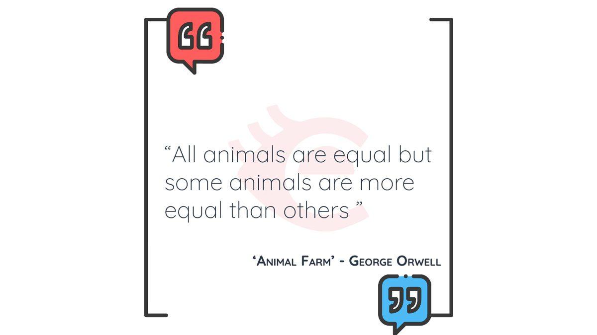 QOTD: 'Animal Farm' – George Orwell