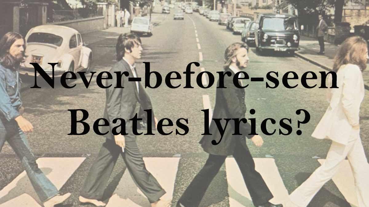 Paul McCartney's latest book will include never-before-seen Beatles lyrics