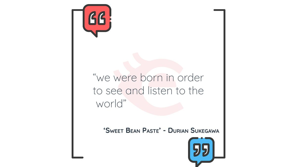 QOTD: 'Sweet Bean Paste' – Durian Sukegawa
